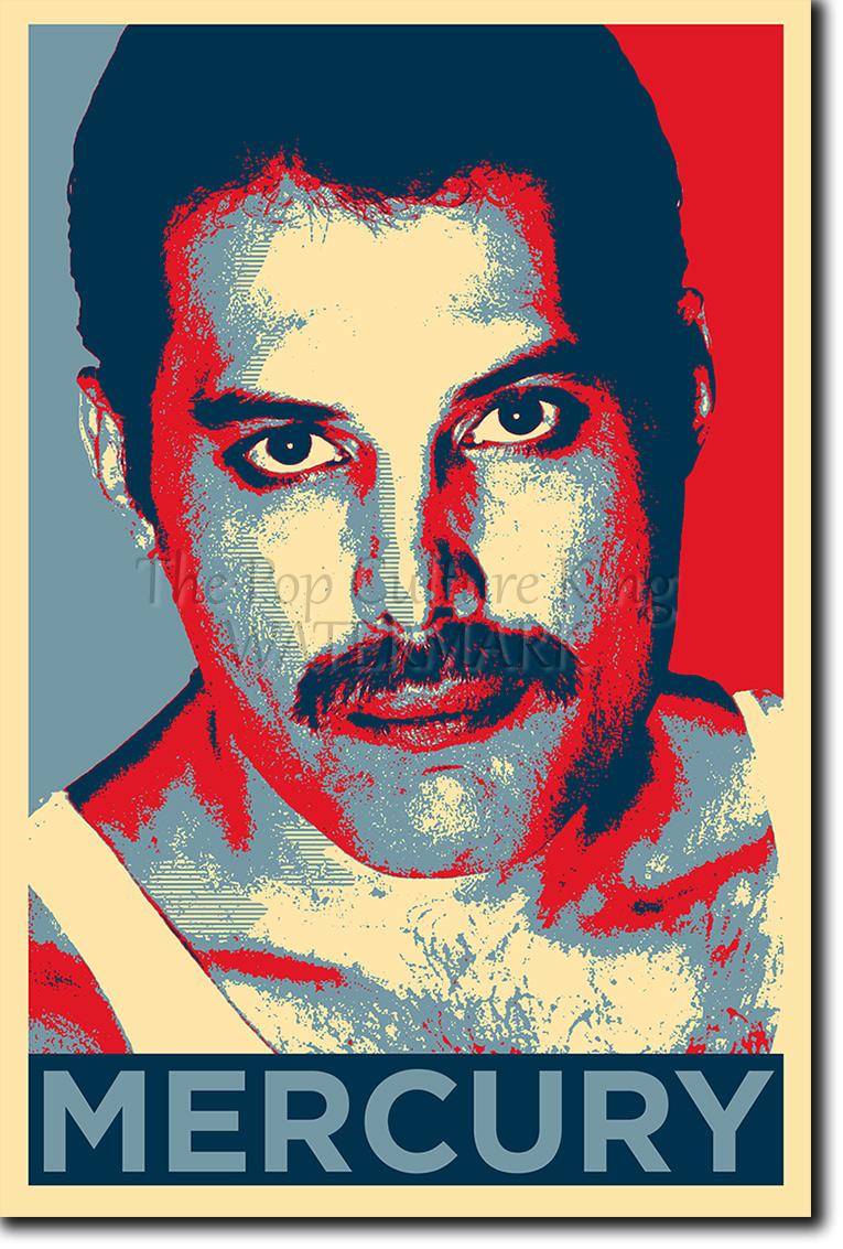 Freddie Mercury Art Photo Print Obama Hope Parody Poster