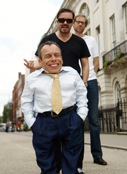 Life's Too Short with Ricky Gervais Warwick Davis and Stephen Merchant