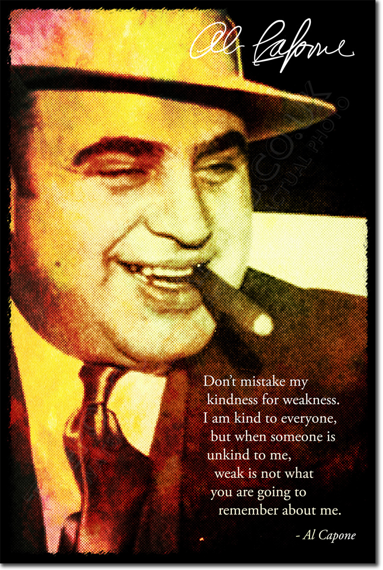 Al Capone Art Photo Print Poster Gift Organised Crime Quote Ebay
