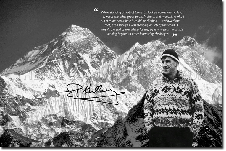 Quotes About Mount Everest: SIR EDMUND HILLARY PHOTO PRINT MOUNT EVEREST CLIMBING
