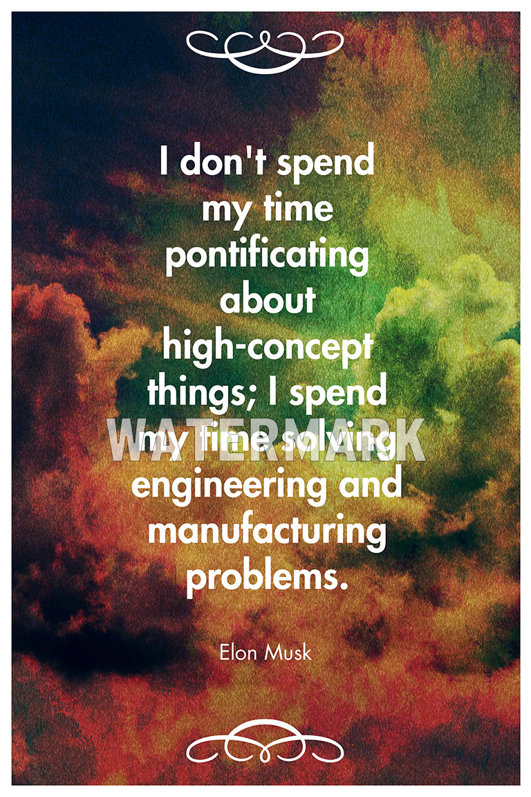 elon musk quote poster art print photo gift inspiration