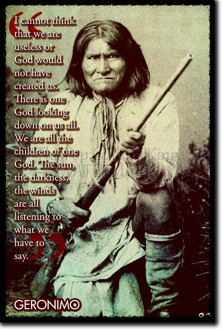 PORTRAIT CHIEF GERONIMO NATIVE AMERICAN INDIAN CHIEF NEW ART PRINT POSTER CC5354
