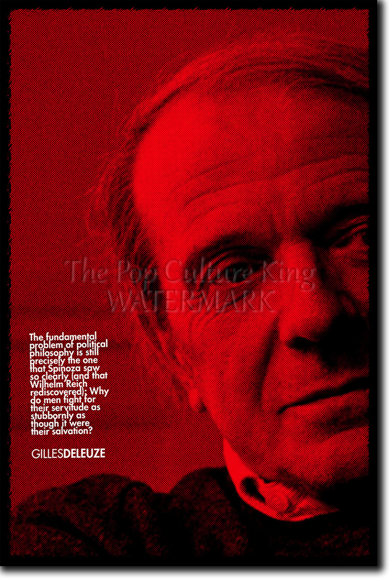 GILLES DELEUZE HOPE POSTER PHOTO PRINT ORIGINAL ART GIFT