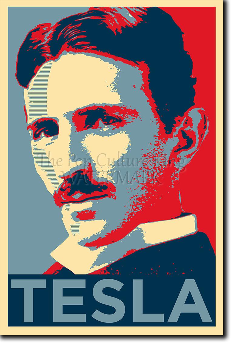 Nikola Tesla Poster Unique Photo Art Print Gift Ebay