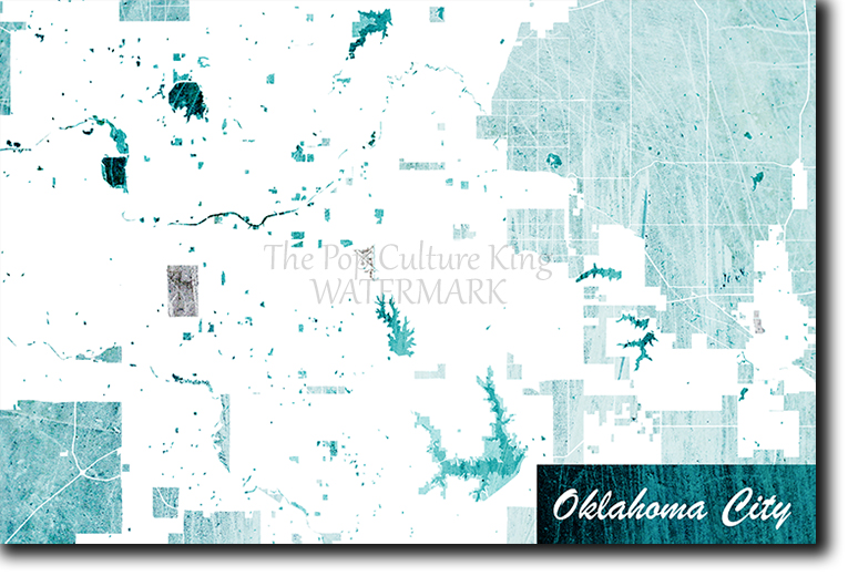 Details about Oklahoma City, USA Map Poster Art Print - Blue Stroke - Photo  Gift