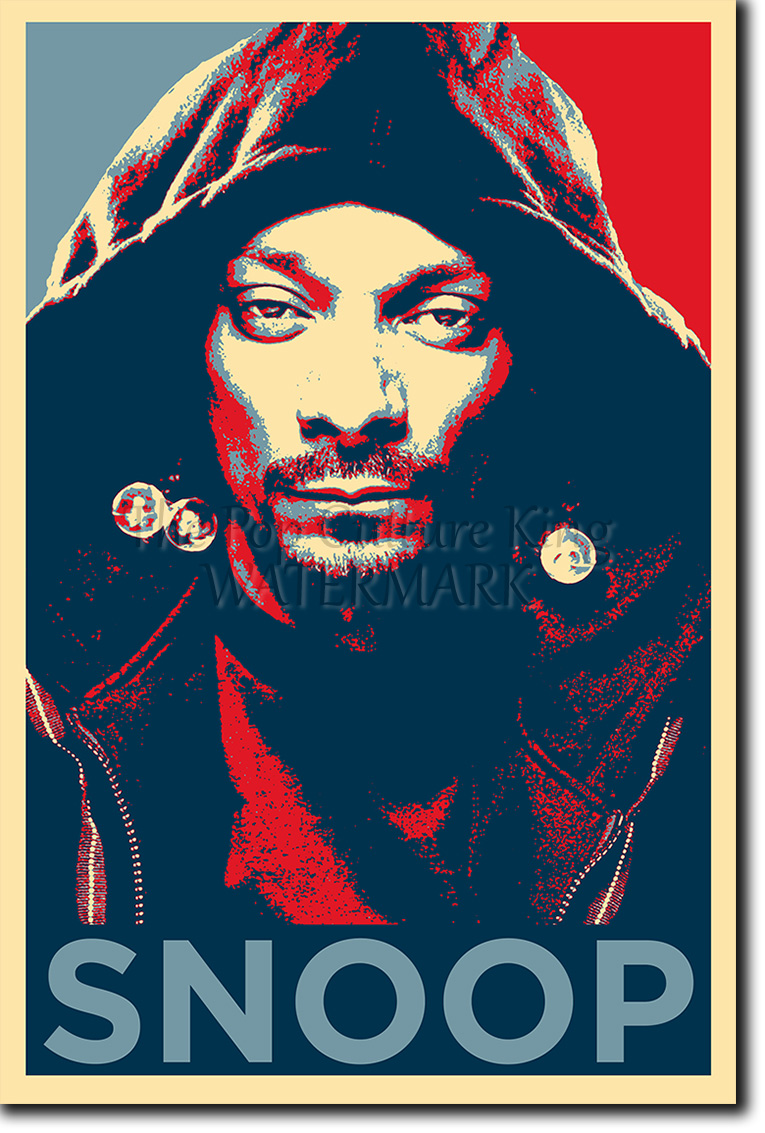 snoop dogg art photo print obama hope parody poster gift ebay. Black Bedroom Furniture Sets. Home Design Ideas