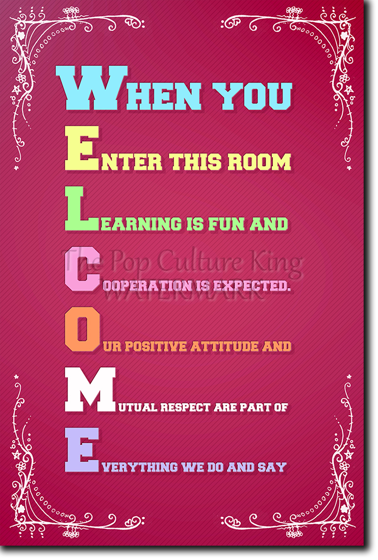 welcome - classroom poster